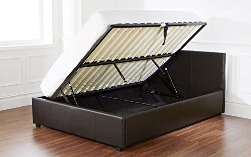 The Side Lift Ottoman Storage Bed 3ft Single Black