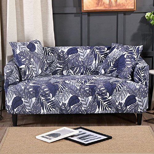 FORCHEER Stretch Sofa Slipcover Printed Sofa Cover 1 Piece Spandex Fabric Couch Covers for Living Room (Loveseat, Pattern# (Fabric Living Room Loveseat)