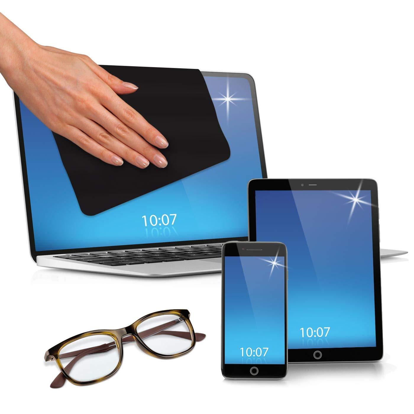 13 Zoll, Schwarz, 1 St/ück POLYCLEAN 1x Displaytuch Reinigungstuch f/ür Tablet Notebooks /& Laptops Schutztuch f/ür Bildschirm Tastatur /& Monitor