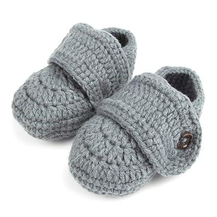Moreaulun Calcetines Bebé Niño Recién Nacido Mano Bebé Ganchillo Zapatos Botines