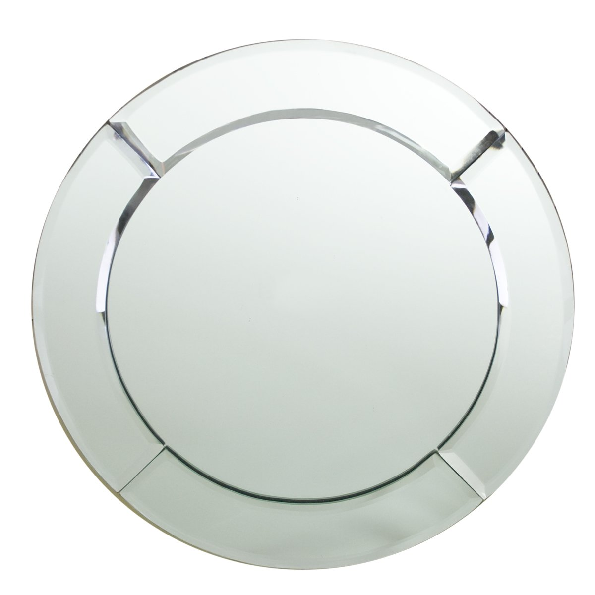 Chargeit by Jay Mirror Round Chargers, 2-Pack Jay Imports 1330051