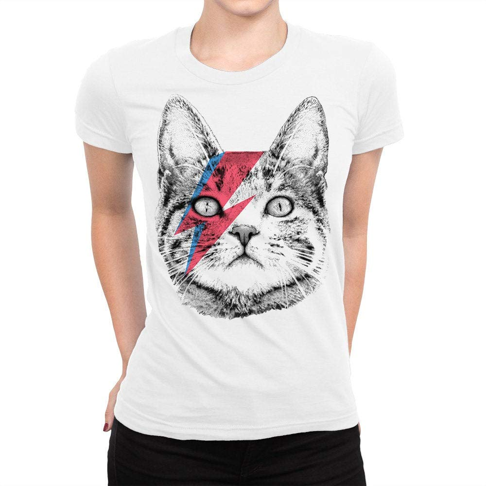 Ziggy Stardust Cat David Bowie Men S Women S All Sizes Shirts