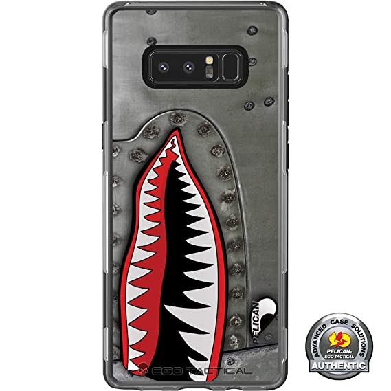 new styles 3c073 d4114 Limited Edition Customized Prints by Ego Tactical Over a Pelican Adventurer  Case for Samsung Galaxy Note 8 - P-40 TigerShark Jaws Teeth Warthog -A100