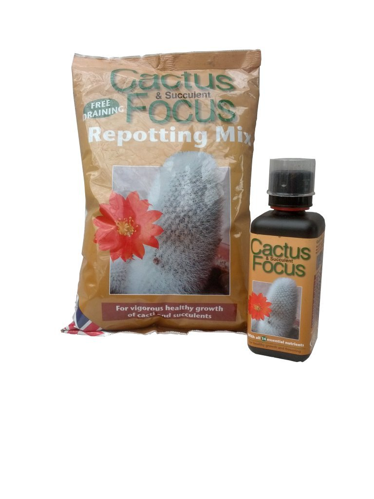 Starter set – Cactus Focus 500ml + Cactus Focus Repotting Mix 2 litre GardenPalms