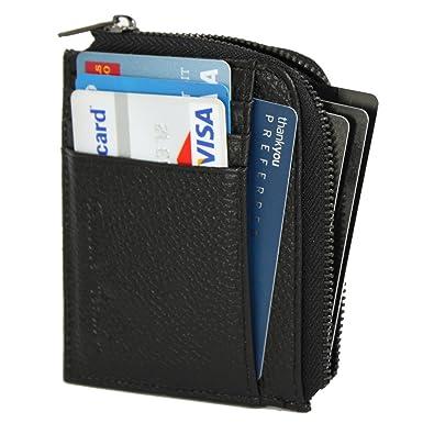 Amazon.com: De los hombres Slim bolsillo frontal Wallet Half ...
