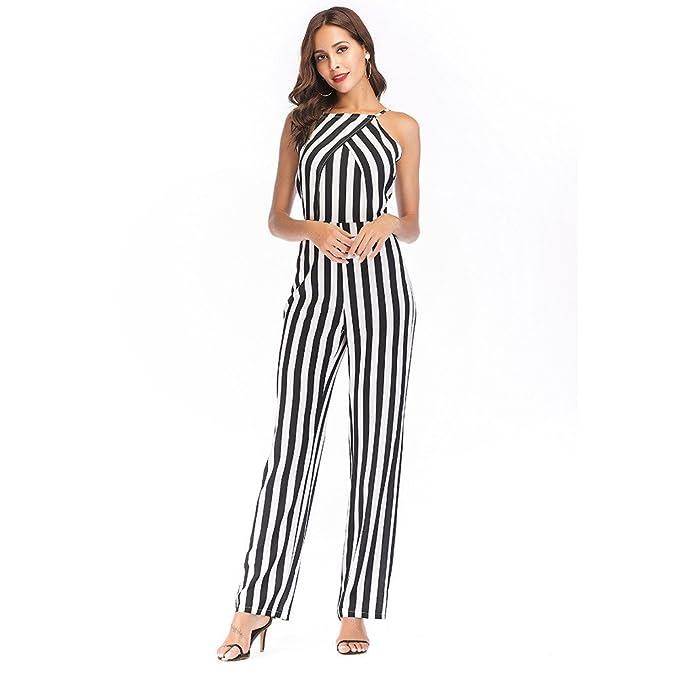 QXH Vestido de Mujer Pelele Pantalones de Color sin Efecto Spell Leisure: Amazon.es: Ropa y accesorios