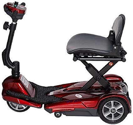 EV Rider Folding Travel Transport Mobility Scooter - Lightweight, Portable, Simple to Store, Manual Fold - Easy Move