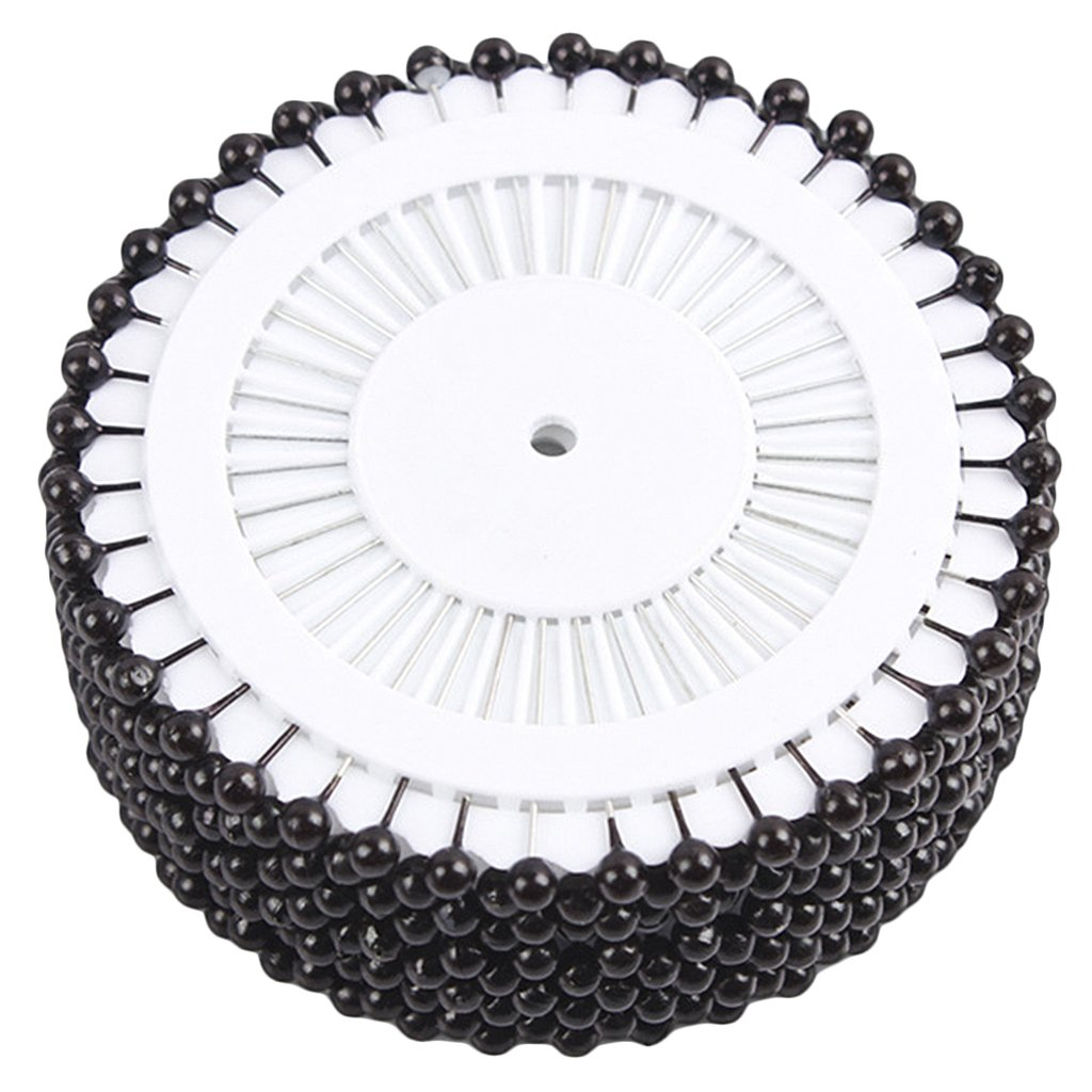 480 x Round Faux Pearl Head Pins for Dressmaking Sewing Craft Wedding Decoration---Black (Black) TOOGOO KKTPY0423