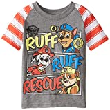 Paw Patrol  Toddler Boys' Short Sleeve T-Shirt, Grey/Red, 3T
