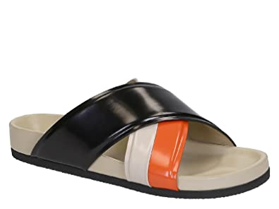 8f28e2b07764f2 Céline Women s Multi-Color Patent Leather Slippers - Thong Shoes - Size  ...
