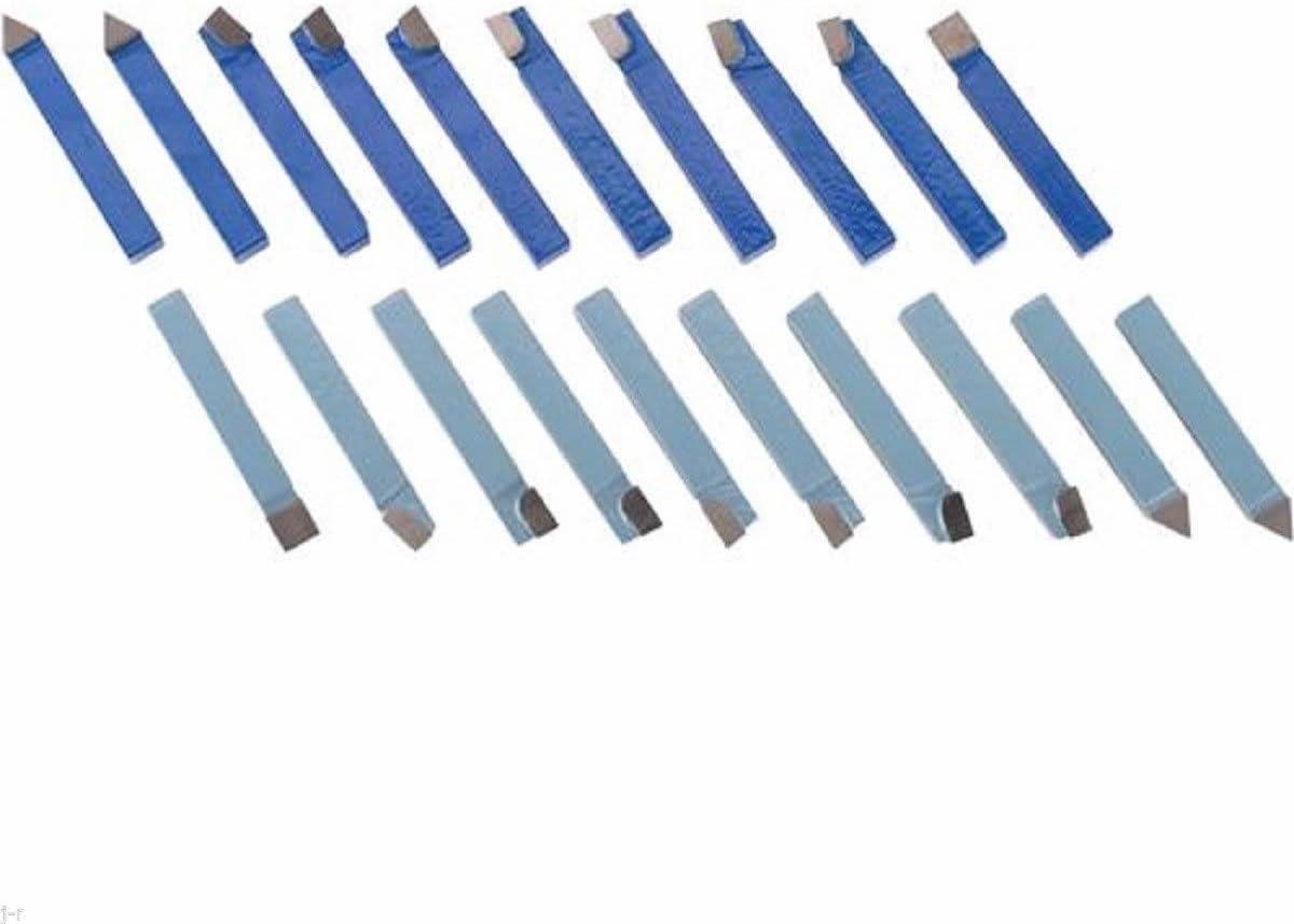 "20pcs 1//4/"" Metal Lathe Tooling Carbide Tip Tipped Cutter Tool Bit Cutting Set"