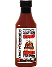 Crazy Mooskies Gourmet Tomato Ketchup, Spicy, 0.375 L