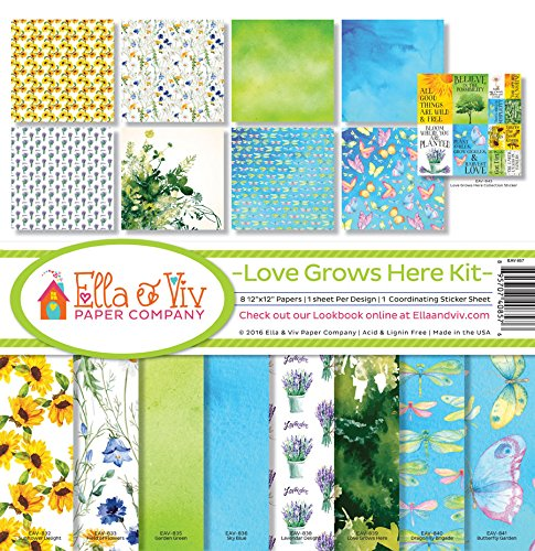 Ella /& Viv by Reminisce Scrapbook Ella and Viv Love Grows Here Collection Kit