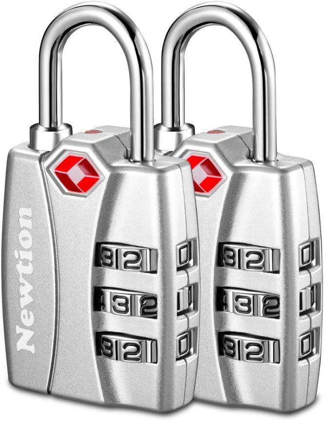 TSA Approve 3 Digit Alert Indicator Travel Luggage Bag Lock Padlock Reset 4x