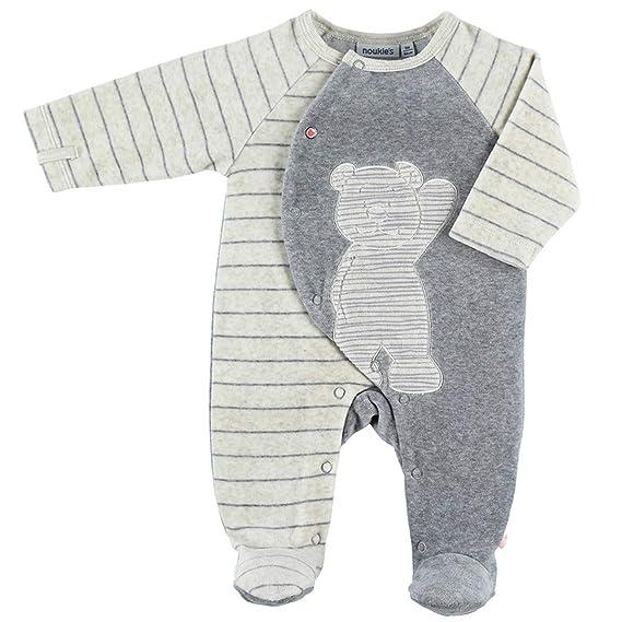 03be1494004b1 Noukie s Noukies Z882131 Pyjama grenouillère en Velours Bébé Garçon ...