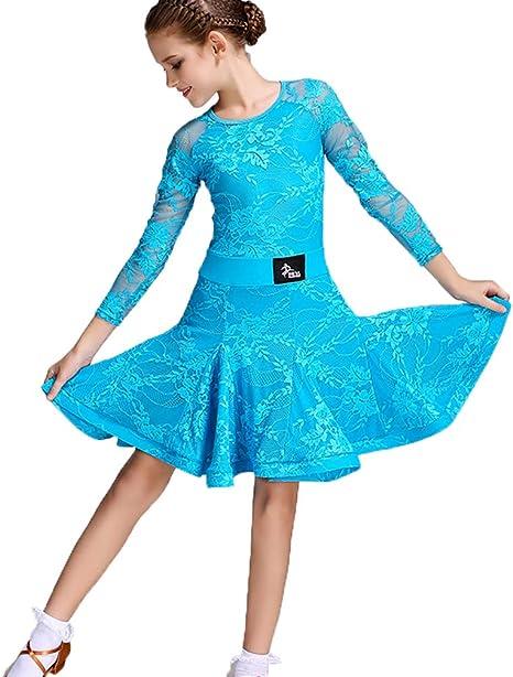 Vestido de Práctica de Ropa de Baile Latino para Niños Manga Larga ...