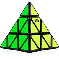 D-FantiX Pyramid Speed Cube 3x3 Triangle Magic Cube Puzzle Black