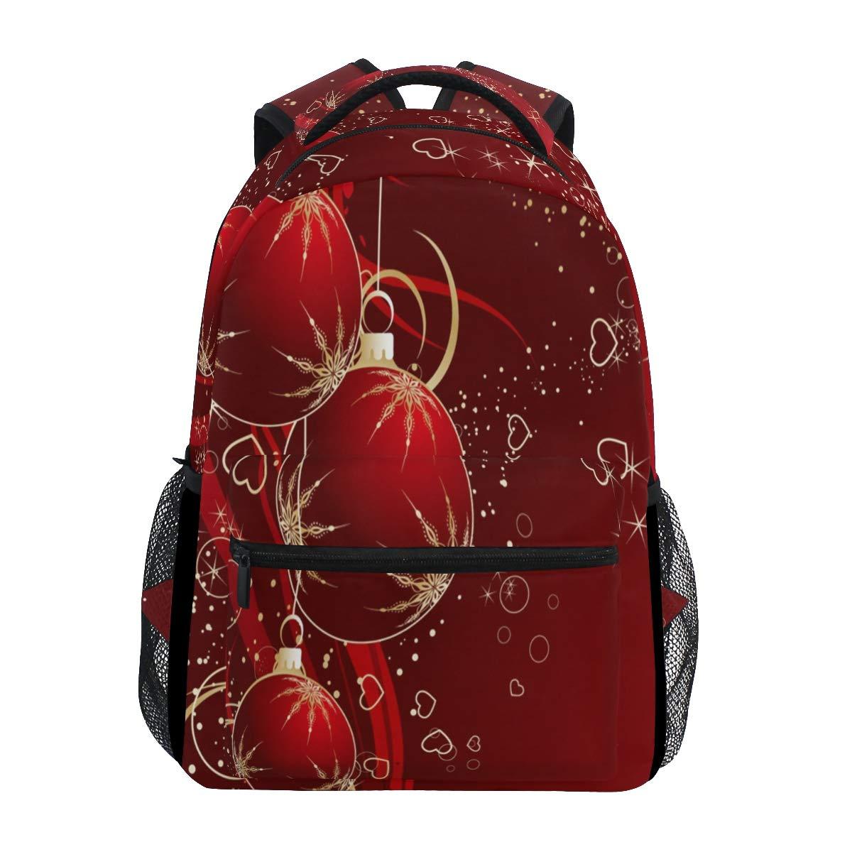 ファッションスクールバックパック ガールズ ボーイズ カジュアルデイパック 旅行カレッジ ブックバッグ レディース&メンズ クリスマス 雪の結晶 星プリント スクールバッグ One Size B07L3SB763 Multicoloured 13