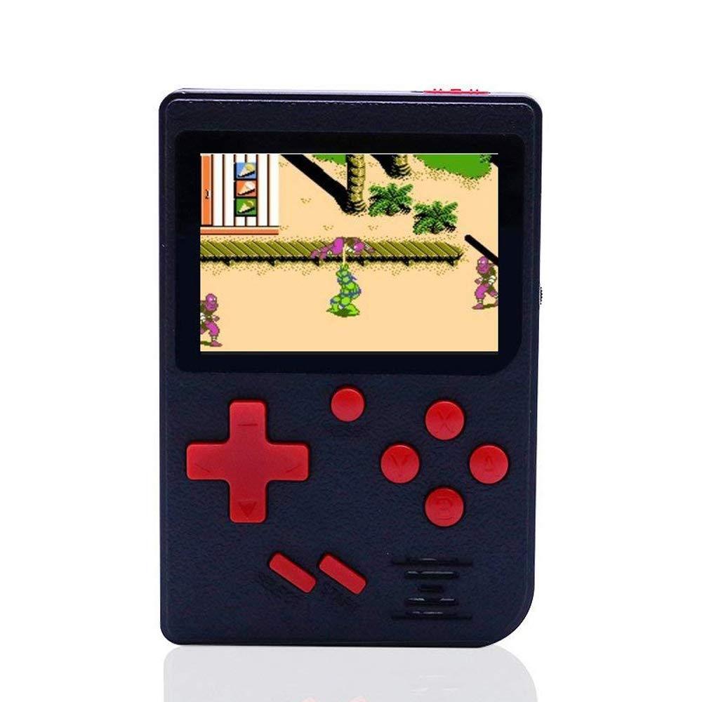 Nrpfell 手持ちゲームコンソール 129ゲーム レトロ FCゲームプレイヤー ビデオゲームコンソール USB充電付き 子供 親友 3-5歳 ギフト (ブラック)   B07N64JJ4P