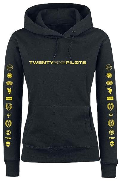 Twenty One Pilots Logo Heavy Sudadera con Capucha Gris L: Amazon.es: Ropa y accesorios