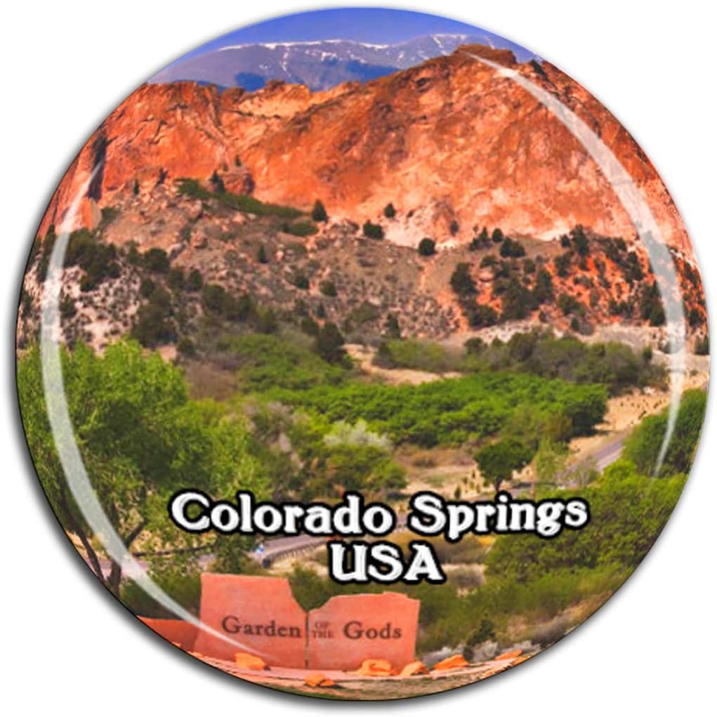 Garden of the Gods Colorado Springs America USA Fridge Magnet 3D Crystal Glass Tourist City Travel Souvenir Collection Gift Strong Refrigerator Sticker