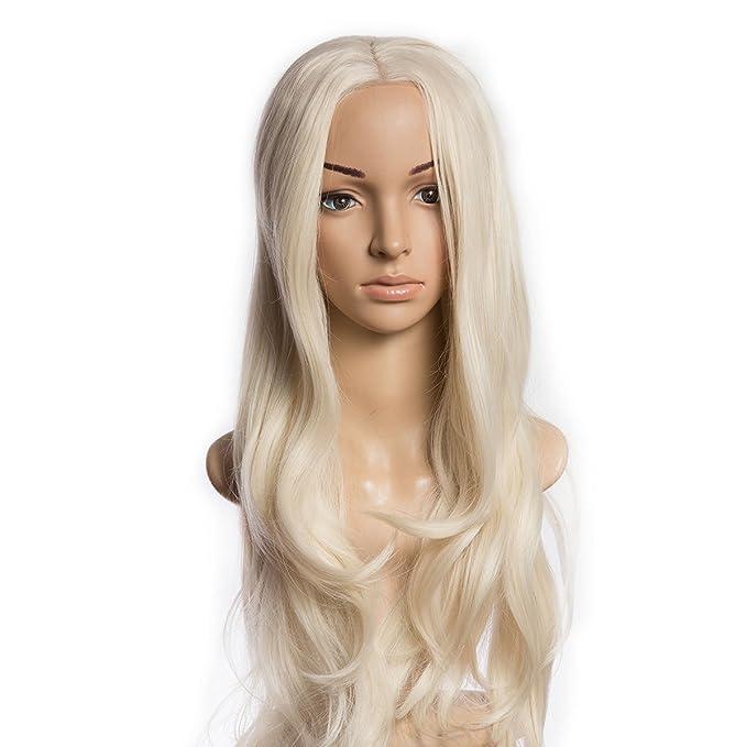 wowcos® color marrón oscuro pelucas de pelo rizado – Natural, suave y de moda