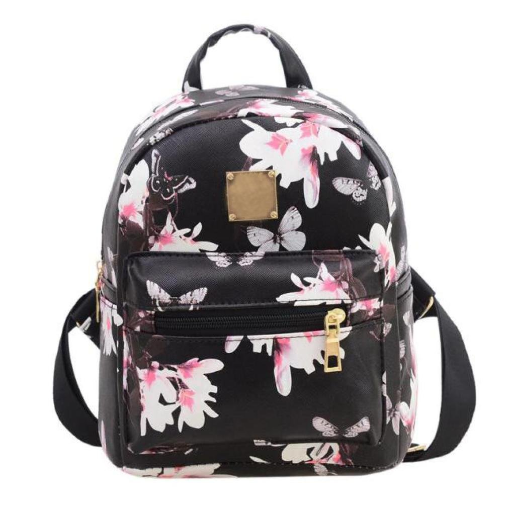 Kemilove Women Girls Floral Printing PU Leather Shoulder Bag Backpack Jareally Culater002