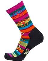 Point6 Active Life Bolivian Stripe Extra Light 3/4 Crew Socks