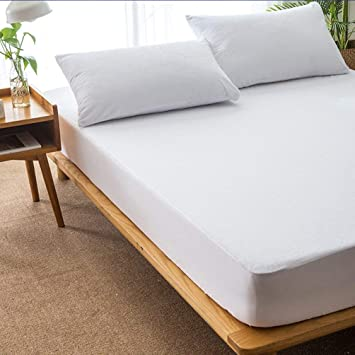 Oyanihin Cómoda Cubierta de colchón de algodón de Gran tamaño de Color sólido Impermeable a Prueba de Polvo colchón Protector de Cama Cubierta para colchón: ...