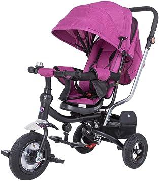 Spielwerk Tríciclo Ajustable Rosa para Bebes y niños con Barra de ...