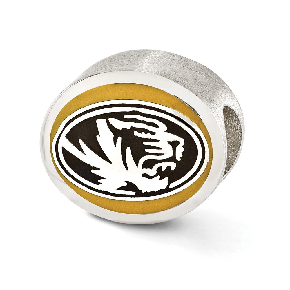 Roy Rose Jewelry Sterling Silver Enameled University of Missouri Collegiate Bead