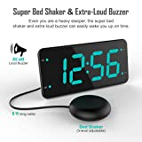 Loud Alarm Clock with Bed Shaker, Vibrating Alarm