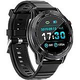 BINDEN Smartwatch SKY7 Pro Muestra Notificaciones, Monitor de Salud y Deportes, Compatible con iOS y Android, Negro
