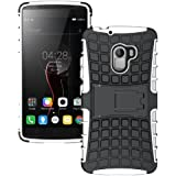 Heartly Flip Kick Stand Spider Hard Dual Rugged Armor Hybrid Bumper Back Case Cover For Lenovo K4 Note - Best White