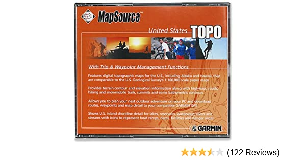 amazon com garmin mapsource u s a topographical map cd rom windows cell phones accessories