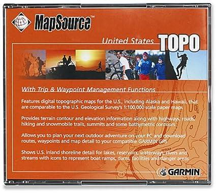 Garmin MapSource United States TOPO - GPS-Software Garm ...