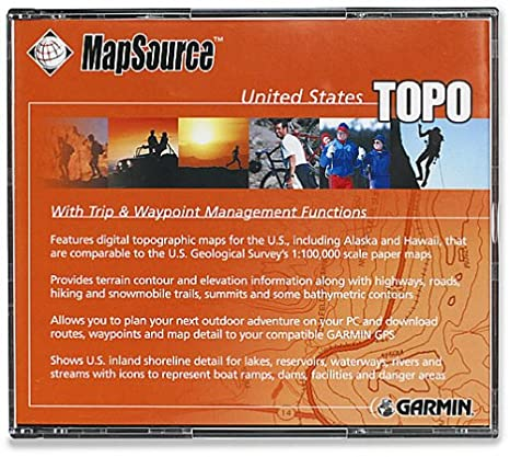 Amazon.com: Garmin MapSource U.S.A. Topographical Map CD-ROM ...