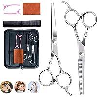 Juego de 6 tijeras de peluquería profesionales para cortar el pelo, para peluquería, peluquería o casa.