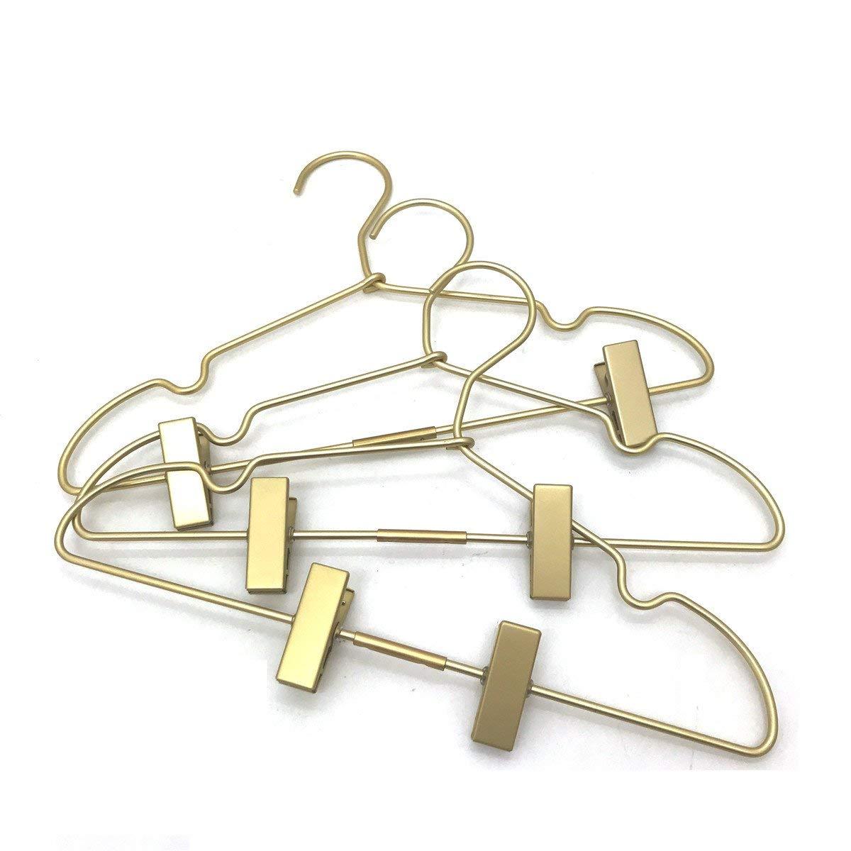 Koobay 30PS Golden Metal 16.5''(42cm) Clothes Clips Hanger Adult Coat Hanger Display and Storage by Koobay