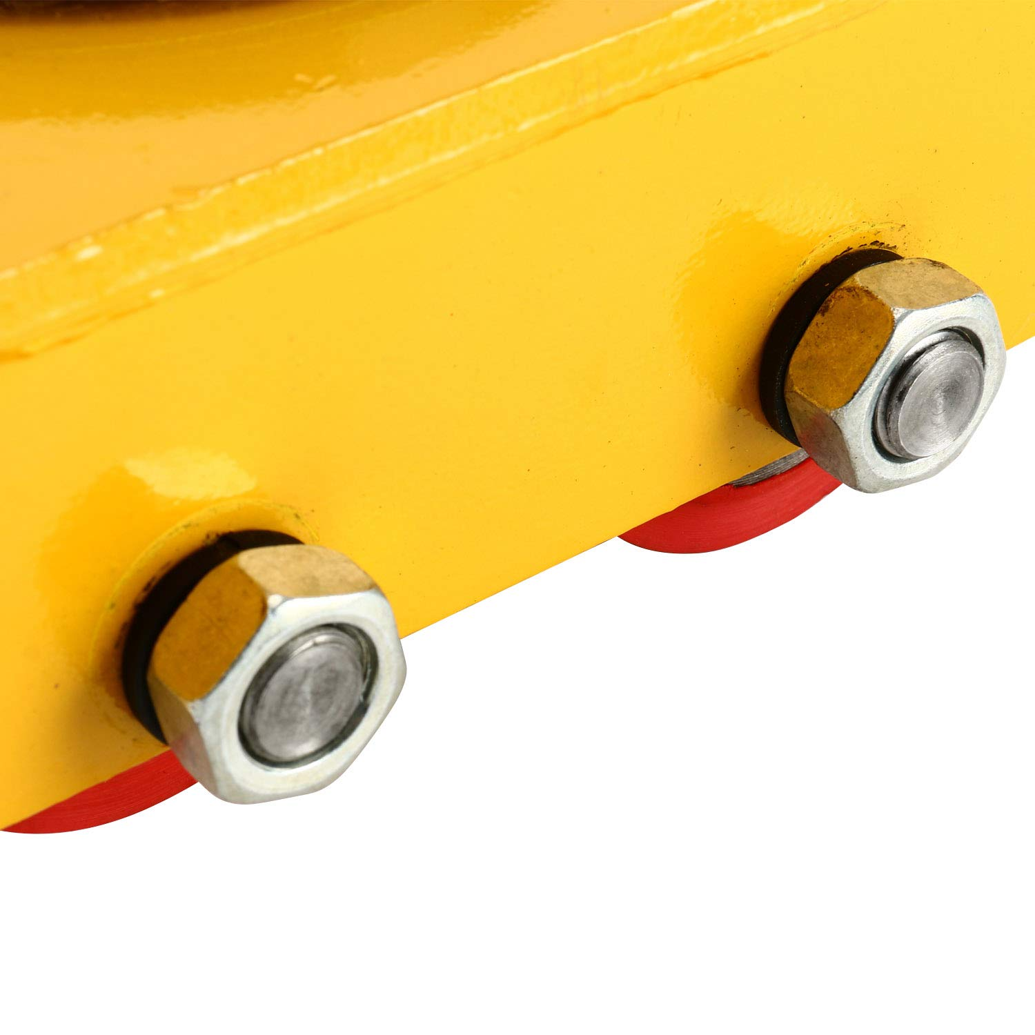 YaeTek Industrial Machinery Mover 13200 lbs 6 Tons Machinery Skate Dolly with 4 Rollers Cap 360 Degree Rotation (Yellow) by YAE TEK (Image #9)