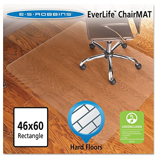 """Price comparison product image Product of ES Robbins 46"""" x 60"""" Economy Rectangular Chairmat, Clear - [Bulk Savings]"""