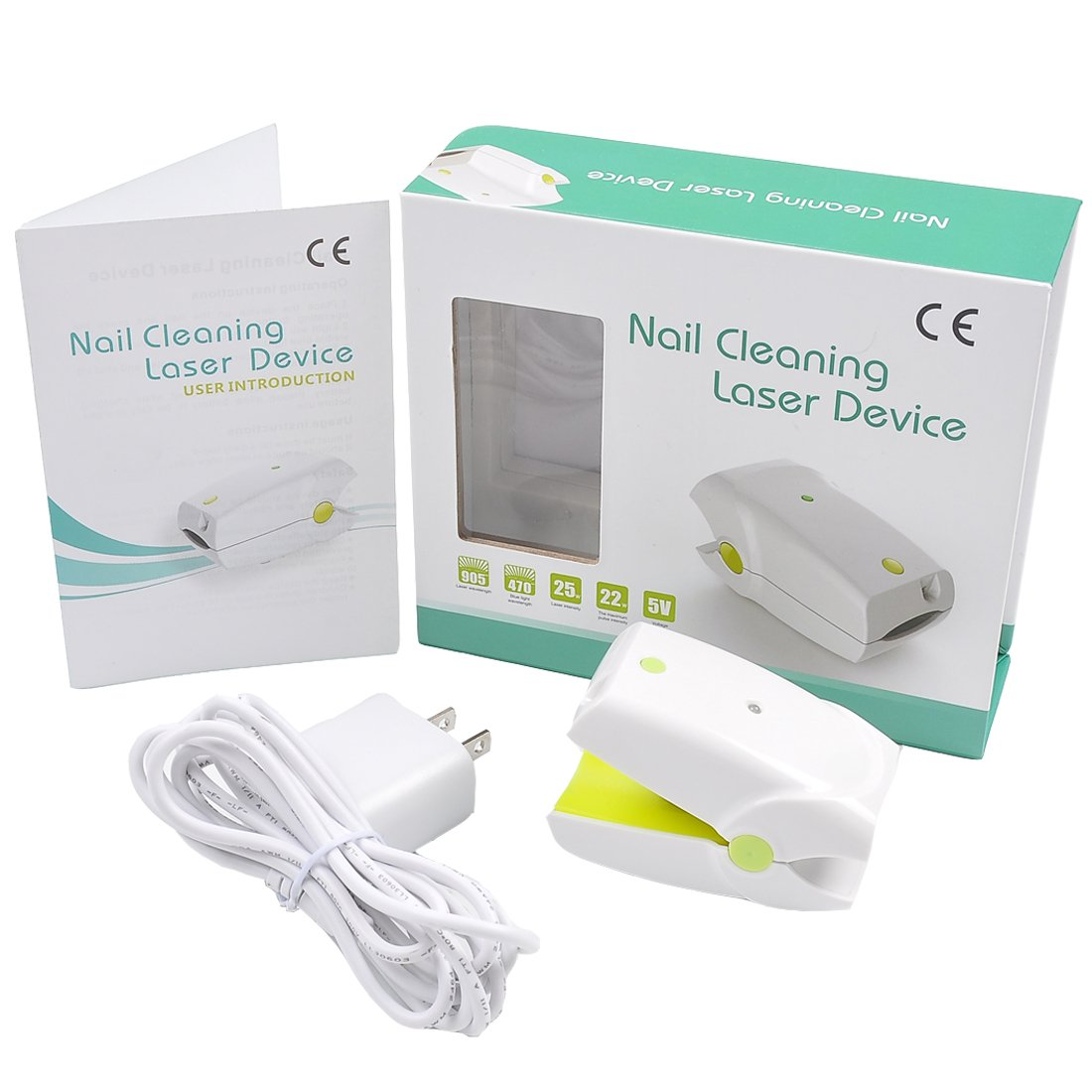 Nail Cleaning Laser Device Professional Safe, Quick and Painless Nail Fungus Treatment For Toe And Finger Nails To Use At-Home No Side Effects …