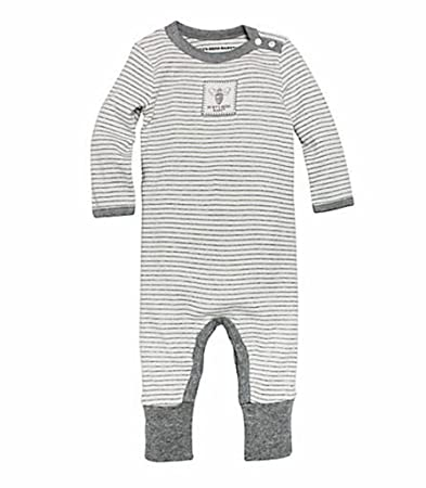 69c2804ac7f Image Unavailable. Image not available for. Color  Burt s Bees Baby Gray  Striped Coverall ...