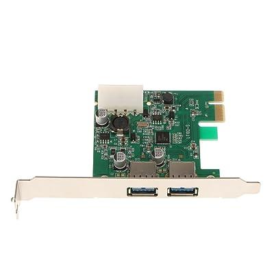 Sharplace PCI-E a 2 Puertos USB3.0 Adaptador de Tarjeta de Expansión Compatibles con Dispositivos Multiusos
