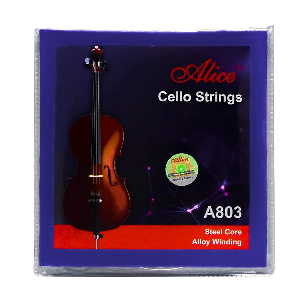 Alice Double Bass Strings Set Steel Core, G/D/A/E iknmusic IKN-A1000