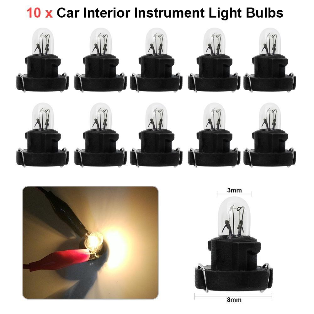 Confezione da nr.10 lampadine T3 a/LED da 12/V per il cruscotto e l/'abitacolo dell/'auto. Starnearby