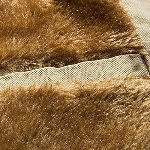 Automne Thermique En Kaki Décontracté Coat Hiver Top De Mrulic Veste Bouton Cuir Poche dwAzAq