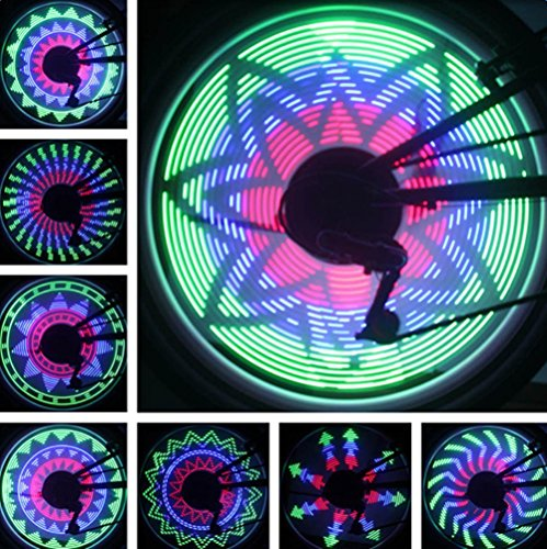 Bike Wheel Light 36 Full Color LED Waterproof LED Flash Model Neon Lamps Bicycle Wind Fire Wheels