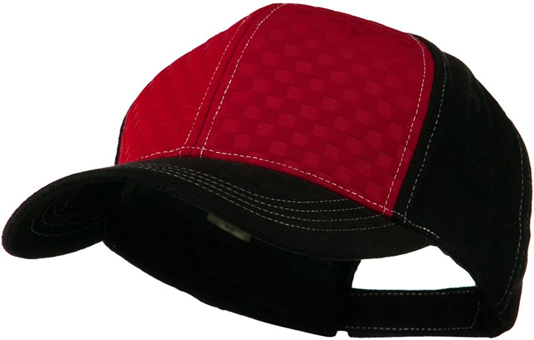Hipster Two Tone Ball Cap - Red Black OSFM at Amazon Men s Clothing store   Baseball Caps 472cabe62aa4