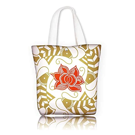 1e5d86c7ae Ladies canvas tote bag —W16.5 x H14 x D7 INCH women Large Work tote Bag  Shoulder Travel Totes Beach Asian Decor Feng Shui Japanese Chinese Asian  Themed Fish ...